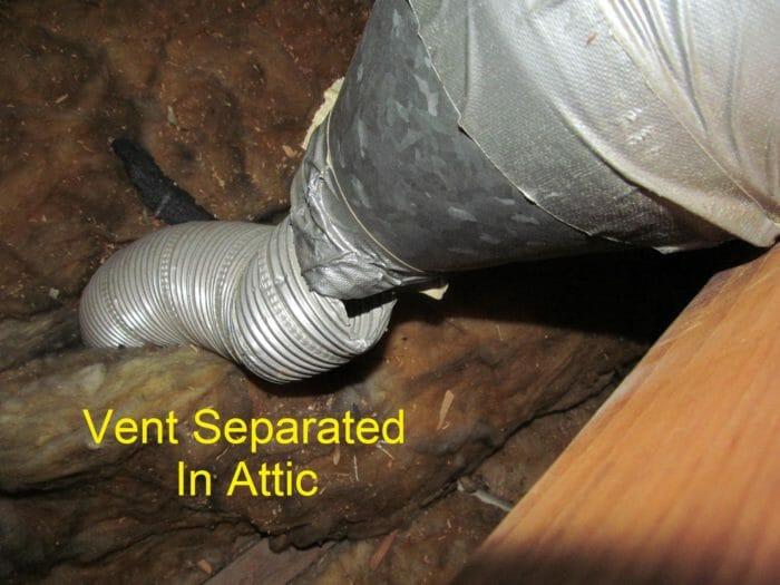Bath fan venting into attic