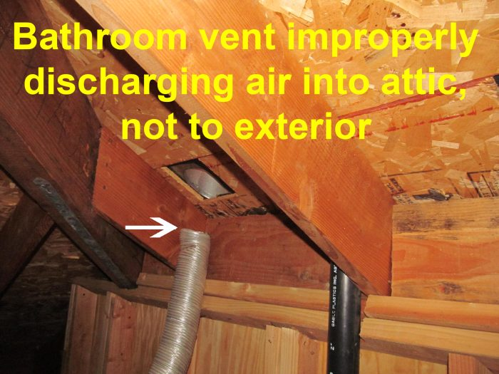 Bathroom Vent Fan Codes | Venting into Attic | Mold ...