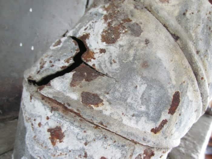 Vent rusted Carbon Monoxide