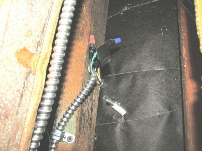 exposed electrical splices are improper but can be easily corrected rh buyersask com exposed electrical wiring design exposed electrical wiring code