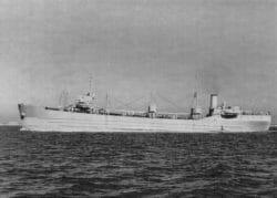 Large concrete ship